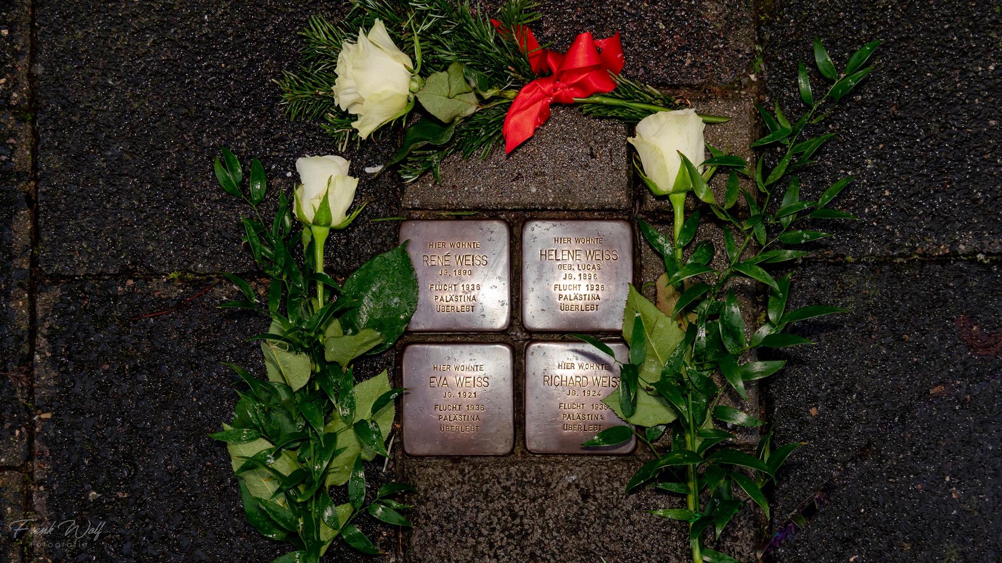 Stolperstein Familie Weiss - Schillerstraße 18, Neu-Isenburg - #weremember 27.01.2021
