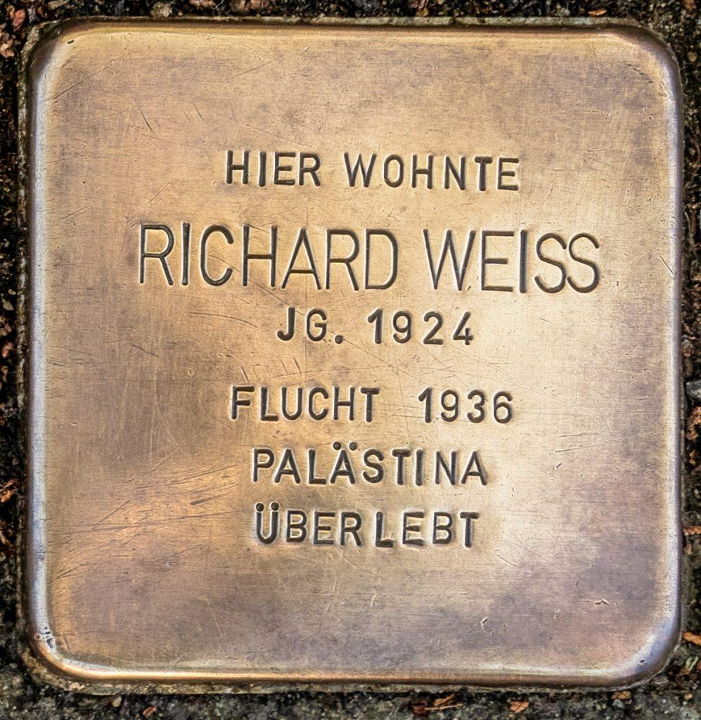 Stolperstein Richard Weiss -  Schillerstraße 18 - 63263 Neu-Isenburg
